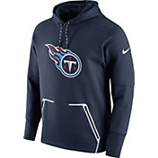 Nike Men's Tennessee Titans Sideline 2016 Vapor Speed Fleece Navy Pullover Hoodie