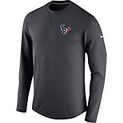 Nike Men's Houston Texans Sideline 2016 Modern Crew Anthracite Sweatshirt