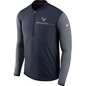 Nike Men's Houston Texans Sideline 2017 Coaches Navy Half-Zip Top