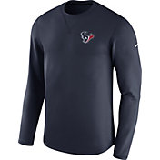 Nike Men's Houston Texans Sideline 2017 Modern Crew Navy Long Sleeve Top