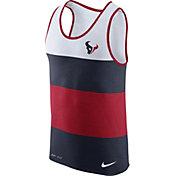 Nike Men's Houston Texans Wide Stripe Performance Red Tank Top