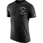 Nike Men's Houston Texans Helmet Tri-Blend Black T-Shirt