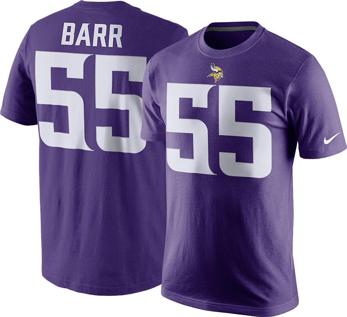 f21d3cca88e ... Elite Stitched NCAA Jersey Nike Mens Minnesota Vikings Anthony Barr 55  Pride Purple T-S ...