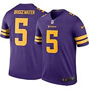 Nike Men's Color Rush Minnesota Vikings Teddy Bridgewater #5 Legend Jersey