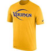 Nike Men's Minnesota Vikings Legend Football Icon Performance Gold T-Shirt
