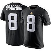 Nike Men's Minnesota Vikings Sam Bradford #8 Pride Black T-Shirt