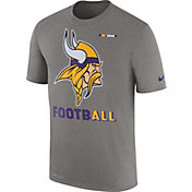Nike Men's Minnesota Vikings Sideline 2017 Legend Football Performance Grey T-Shirt