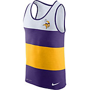 Nike Men's Minnesota Vikings Wide Stripe Performance Purple Tank Top