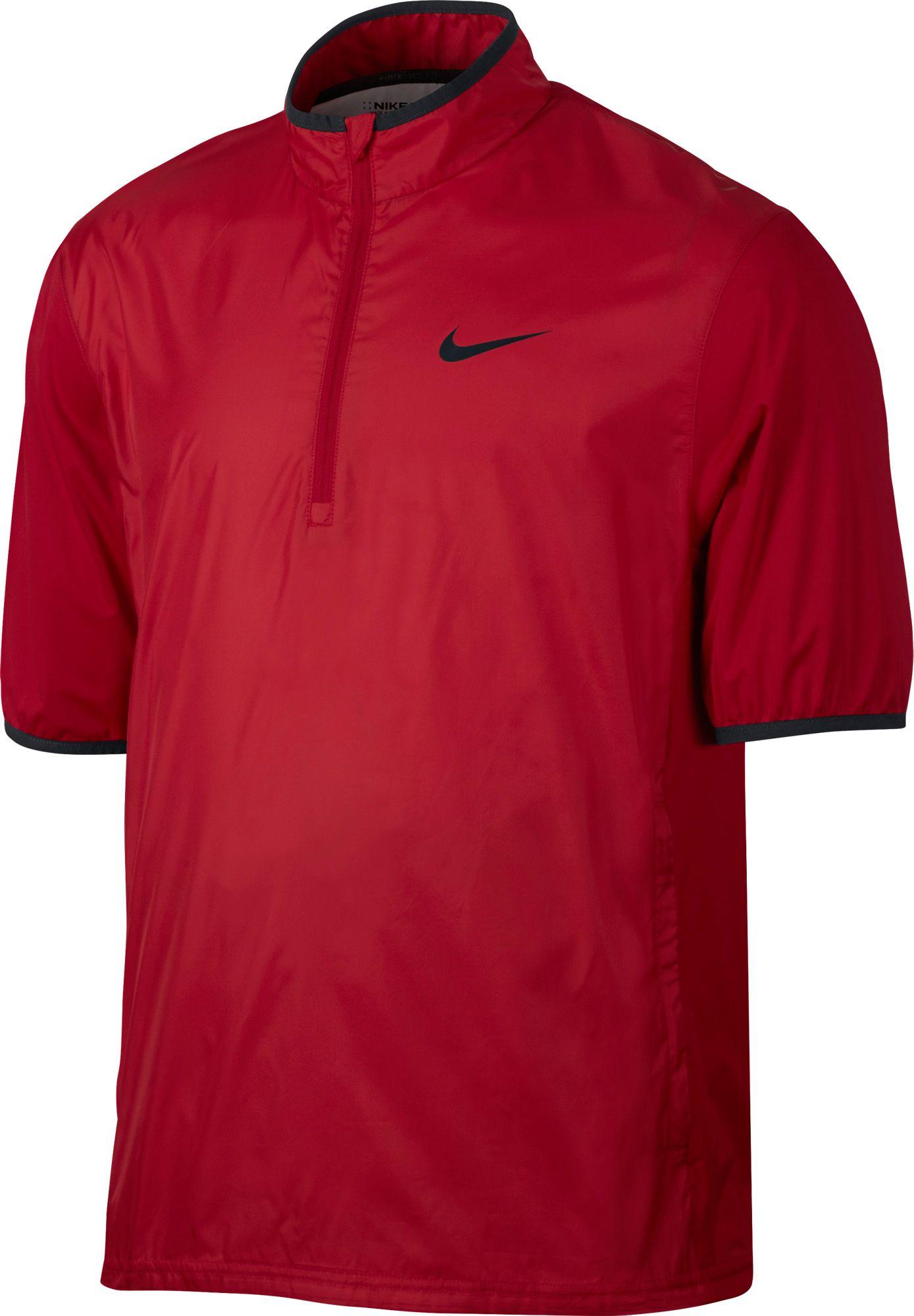 Mens jacket deals - Product Image Nike Men S Shield Half Zip Short Sleeve Golf Jacket