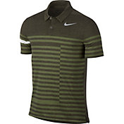 Nike Men's Modern Fit Transition Dry Stripe Golf Polo