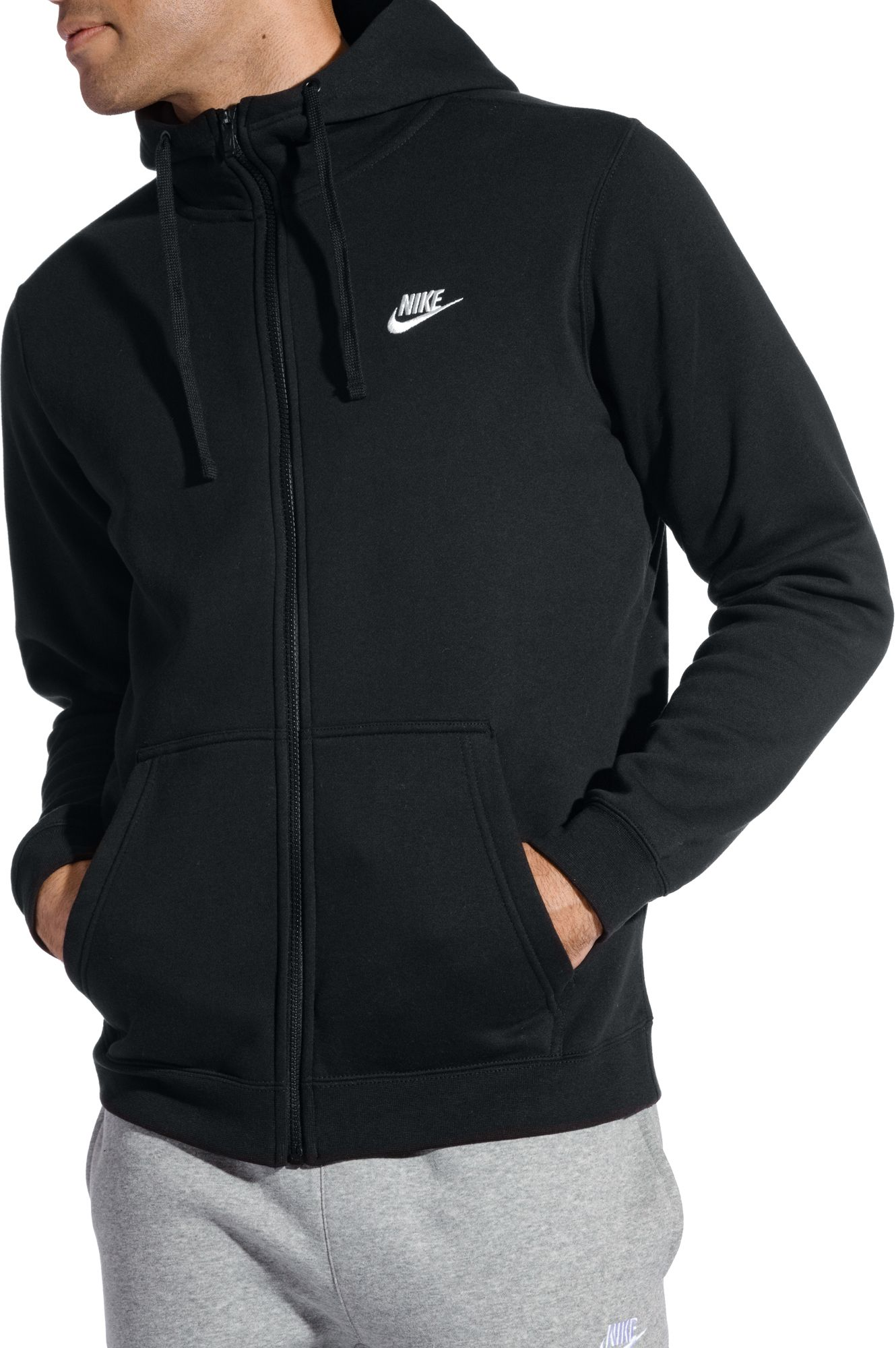 Nike Men's Sportswear Club Fleece Full Zip Hoodie| DICK'S Sporting ...