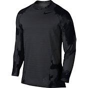 Nike Men's Pro Hyperwarm Topo Buzz Printed Long Sleeve Shirt