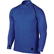 Nike Men's Pro Hyperwarm Quarter Zip Long Sleeve Shirt