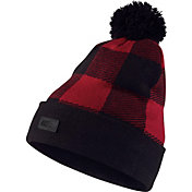 Nike Men's SB Buffalo Plaid Printed Pom Knit Hat