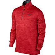 Nike Men's TW Heather Long Sleeve Golf Polo