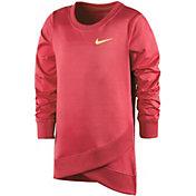 Nike Toddler Girls' Dri-FIT Crossover Long-Sleeved Sweatshirt