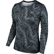 Nike Women's Dry Miler Long Sleeve Printed Running Shirt