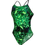 Nike Women's Gemstone Cut-Out Tank Swimsuit