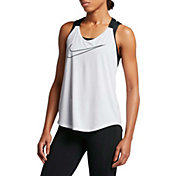 Nike Women's Dry Double Strap Elastika Graphic Tank Top