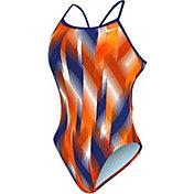 Nike Women's Beam Modern Cut-Out Tank Swimsuit
