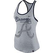 Nike Women's Atlanta Braves Marled Grey Tank Top