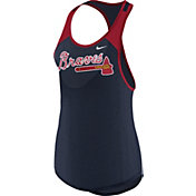 Nike Women's Atlanta Braves Dri-FIT Navy Wordmark Tank Top