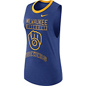 Nike Women's Milwaukee Brewers Dri-Blend Cooperstown Royal Muscle Tank Top