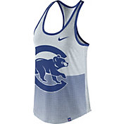 Nike Women's Chicago Cubs Dri-Blend Premium White/Royal Tank Top