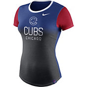 Nike Women's Chicago Cubs Tri-Blend Crew T-Shirt