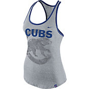 Nike Women's Chicago Cubs Marled Grey Tank Top
