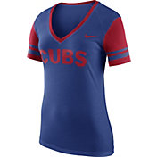 Nike Women's Chicago Cubs Fan Royal V-Neck Shirt