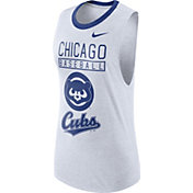 Nike Women's Chicago Cubs Dri-Blend Cooperstown White Muscle Tank Top
