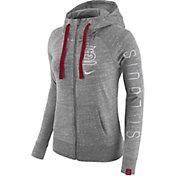 Nike Women's St. Louis Cardinals Vintage Grey Full-Zip Hoodie