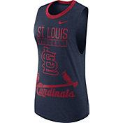 Nike Women's St. Louis Cardinals Dri-Blend Cooperstown Navy Muscle Tank Top