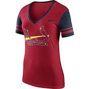 Nike Women's St. Louis Cardinals Fan Red V-Neck Shirt
