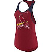Nike Women's St. Louis Cardinals Dri-FIT Red Wordmark Tank Top
