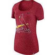Nike Women's St. Louis Cardinals Marled Red Boyfriend Scoop Neck T-Shirt