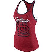 Nike Women's St. Louis Cardinals Marled Red Tank Top