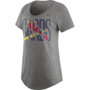 Nike Women's St. Louis Cardinals Grey Boyfriend Scoop Neck T-Shirt