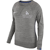 Nike Women's Los Angeles Dodgers Gym Vintage Grey Pullover Crew