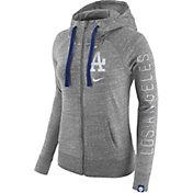 Nike Women's Los Angeles Dodgers Vintage Grey Full-Zip Hoodie