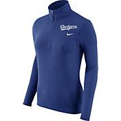 Nike Women's Los Angeles Dodgers Dri-FIT Royal Element Half-Zip Jacket