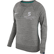 Nike Women's Seattle Mariners Gym Vintage Grey Pullover Crew