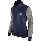 Nike Women's Seattle Mariners Navy/Grey Full-Zip Track Jacket