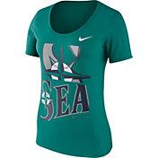 Nike Women's Seattle Mariners Teal Scoop Neck T-Shirt