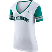 Nike Women's Seattle Mariners Fan White V-Neck Shirt