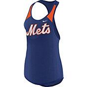 Nike Women's New York Mets Dri-FIT Royal Wordmark Tank Top