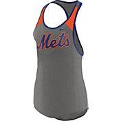Nike Women's New York Mets Dri-FIT Grey Wordmark Tank Top