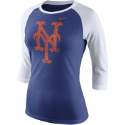 Nike Women's New York Mets Raglan Royal/White Three-Quarter Shirt