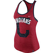 Nike Women's Cleveland Indians Marled Red Tank Top